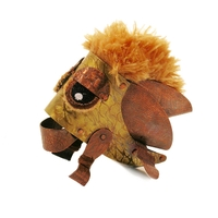 Small leather and fabric creature